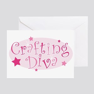 """Crafting Diva"" [pink] Greeting Cards (Package of"